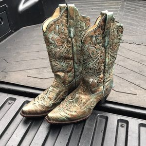 Corral glitter cowboy boots size 10